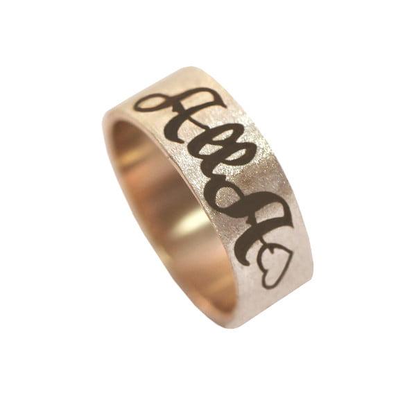 Серебряное кольцо с позолотой с буквой или монограммой