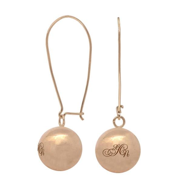 Золотые серьги с буквой или монограммой