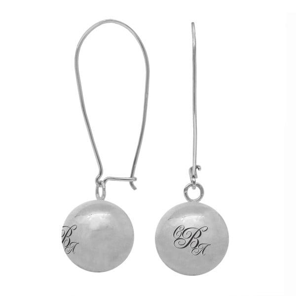 Серебряные серьги с буквой или монограммой