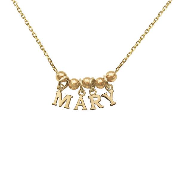 Серебряное колье-буквы с желтой позолотой