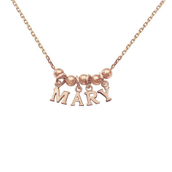 Серебряное колье-буквы с позолотой