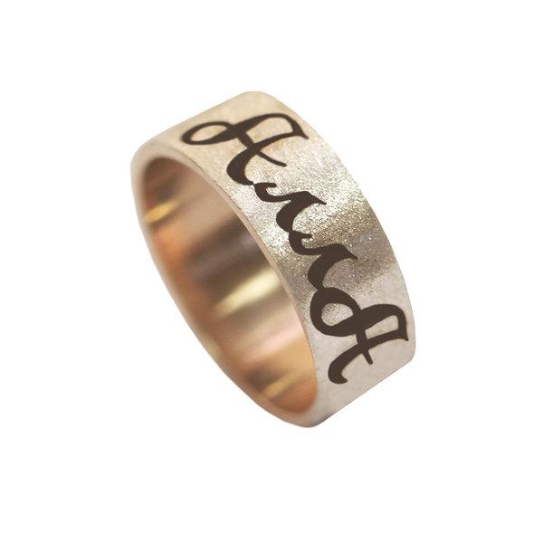 Золотое кольцо с буквой  с именем