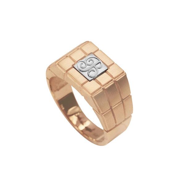 Золотое кольцо с буквой или монограммой