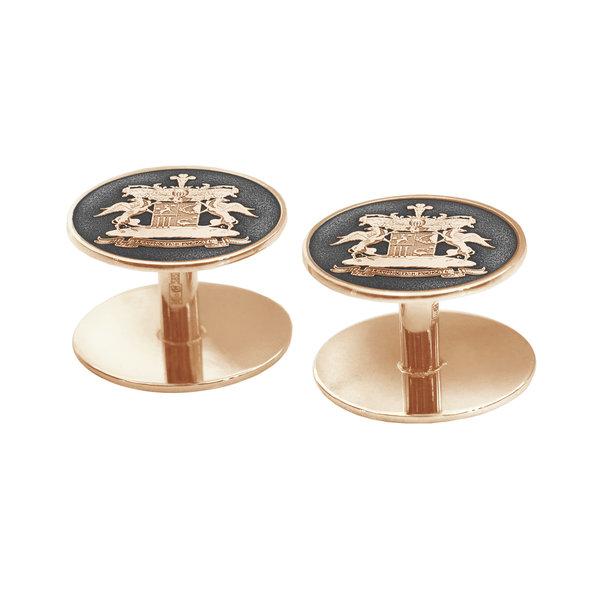 Золотые запонки с фамильным гербом
