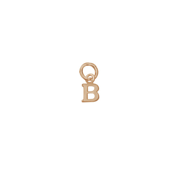 Золотая подвеска-буква «В»