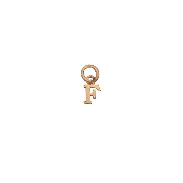 Золотая подвеска-буква «F»