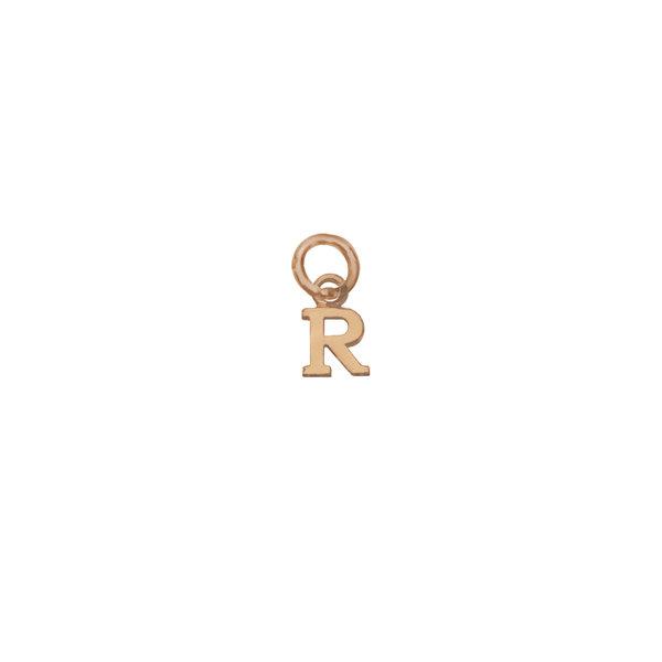 Золотая подвеска-буква «R»