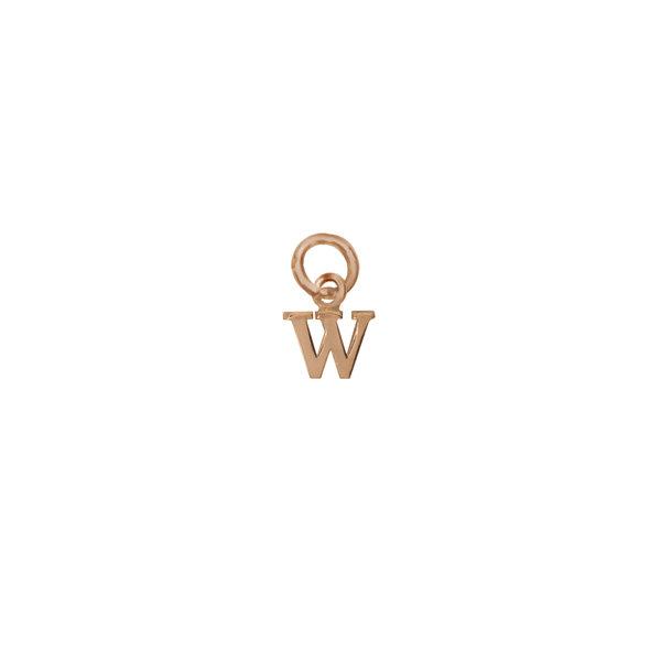 Золотая подвеска-буква «W»