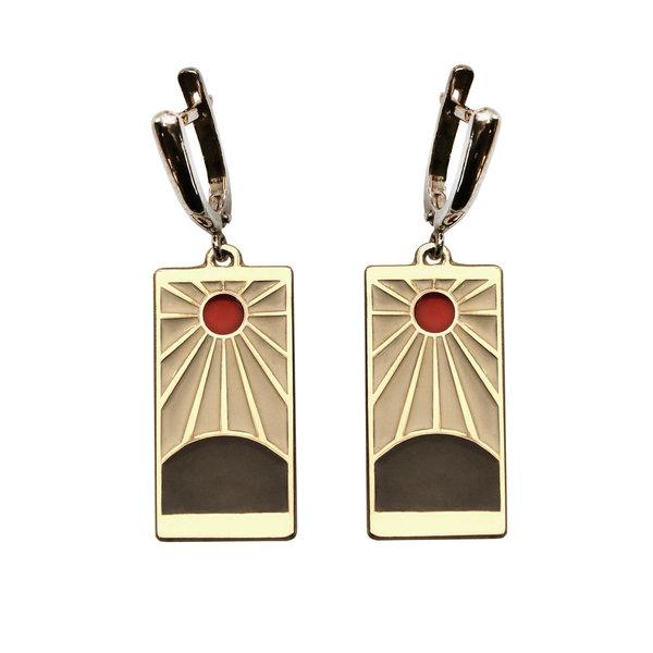 Серебряные серьги-аниме