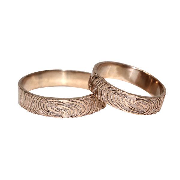 Золотое кольцо сотпечатками пальцев