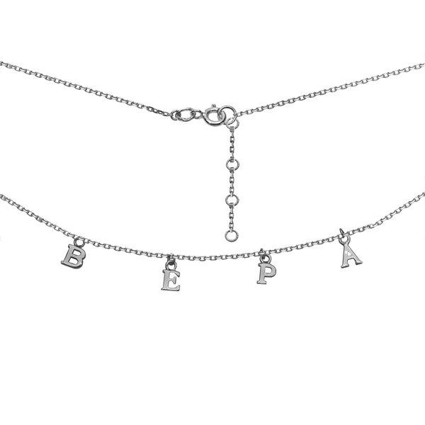 Серебряное колье с надписью
