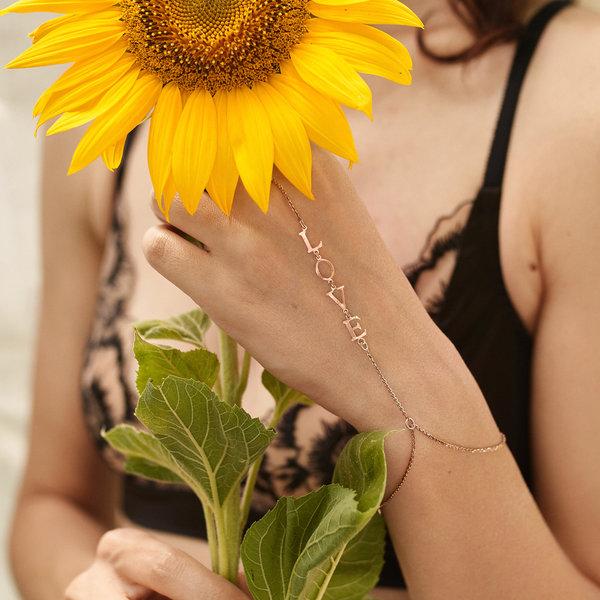 Золотой слейв-браслет с  именем