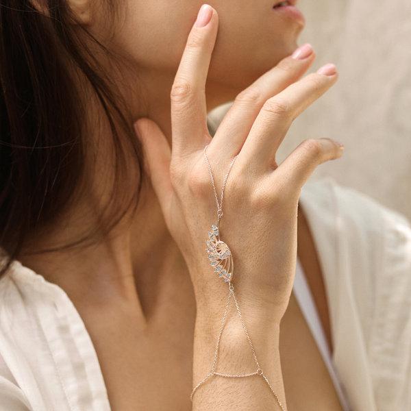 Серебряный слейв-браслет с позолотой