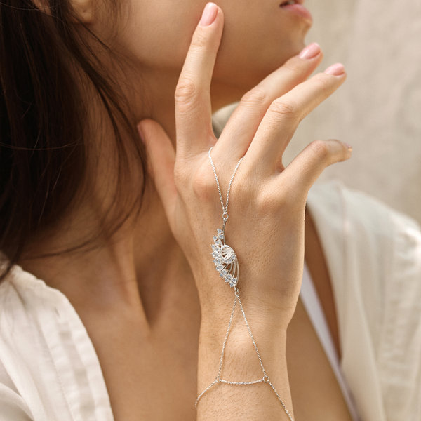 Серебряный слейв-браслет