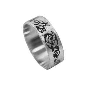 Серебряное кольцо с буквой или монограммой