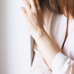 Серебряный слейв-браслет с именем