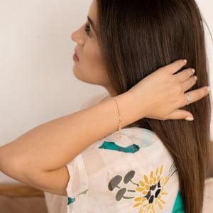 Серебряный браслет с позолотой с именем