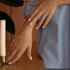 Золотой браслет с именем