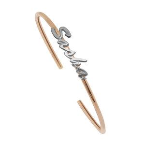 Золотой браслет обруч с именем