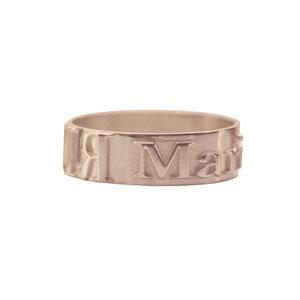 Серебряное кольцо с позолотой с именем