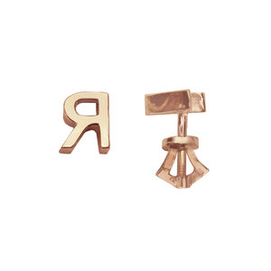 Серебряные серьги-пусеты с позолотой