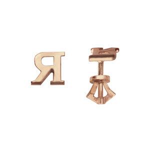 Золотые серьги-пусеты