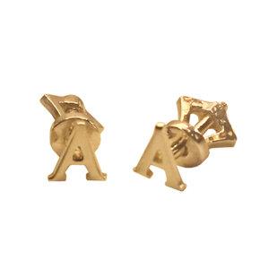 Серьги-пусеты из желтого золота