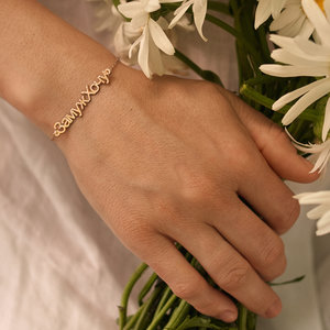 Серебряный браслет  с позолотой